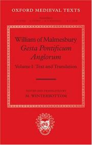 Cover of: William of Malmesbury: Gesta Pontificum Anglorum, The History of the English Bishops |