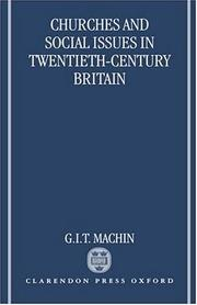 Cover of: Churches and social issues in twentieth-century Britain
