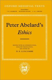 Cover of: Peter Abelard's ethics