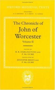 Cover of: The Chronicle of John of Worcester: Volume II |