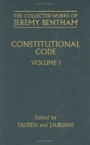 Cover of: Constitutional code