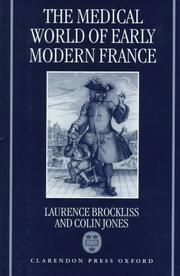 Cover of: The medical world of early modern France