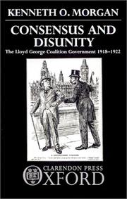Cover of: Consensus and Disunity