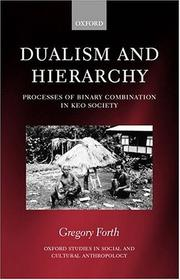 Cover of: Dualism and hierarchy