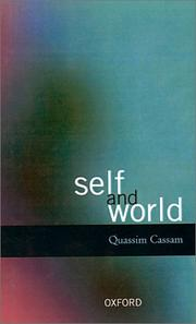Cover of: Self and world