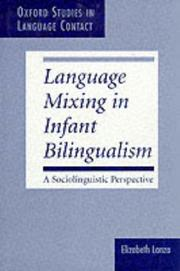 Language mixing in infant bilingualism by Elizabeth Lanza