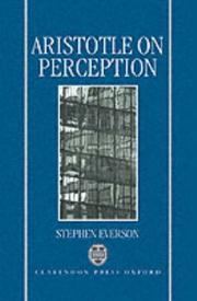 Cover of: Aristotle on perception