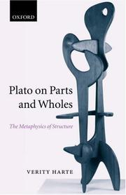 Cover of: Plato on parts and wholes | Verity Harte
