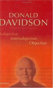 Cover of: Subjective, intersubjective, objective