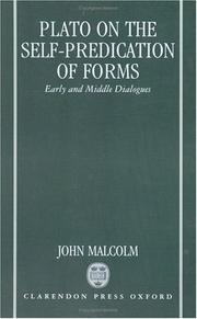 Cover of: Plato on the self-predication of forms | Malcolm, John
