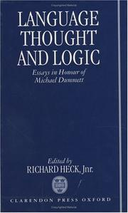 Cover of: Language, Thought, and Logic | Richard G. Heck