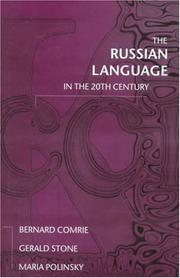 Cover of: The Russian language in the twentieth century