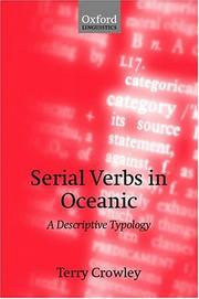 Cover of: Serial verbs in oceanic
