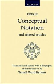 Cover of: Conceptual notation, and related articles