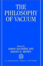 Cover of: The Philosophy of vacuum |
