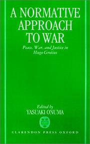 Cover of: A Normative Approach to War | Onuma Yasuaki