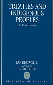 Cover of: Treaties and indigenous peoples | Ian Brownlie