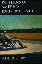 Cover of: Patterns of American jurisprudence
