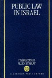 Cover of: Public law in Israel