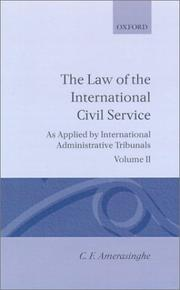 Cover of: The law of the international civil service