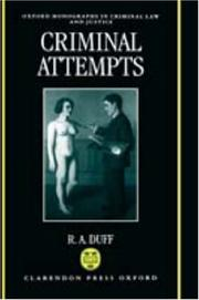Cover of: Criminal attempts