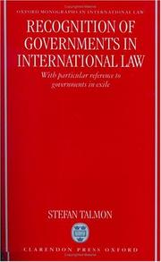 Cover of: Recognition of governments in international law | Stefan Talmon