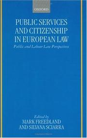 Cover of: Public services and citizenship in European law
