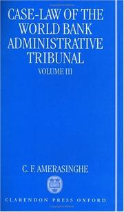 Cover of: Case law of the World Bank Administrative Tribunal