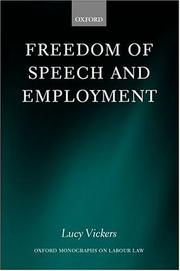 Cover of: Freedom of speech and employment
