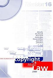 Cover of: Yearbook of Copyright and Media Law |
