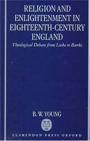 Cover of: Religion and enlightenment in eighteenth-century England