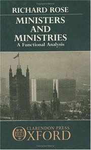 Cover of: Ministers and ministries: a functional analysis