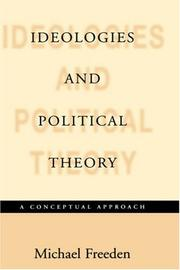 Cover of: Ideologies and Political Theories