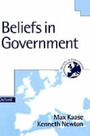 Cover of: Beliefs in government | Max Kaase