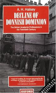 Decline of Donnish Dominion by Halsey, A. H.