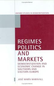 Cover of: Regimes, politics, and markets