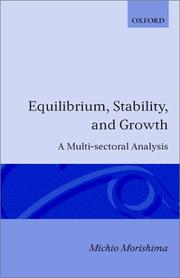 Equilibrium stability, and growth by Morishima, Michio