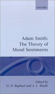 Cover of: The Glasgow edition of the works and correspondence of Adam Smith