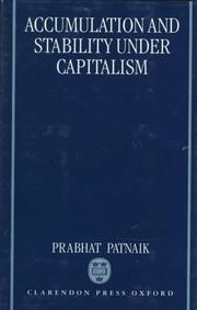 Cover of: Accumulation and stability under capitalism