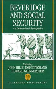 Cover of: Beveridge and social security