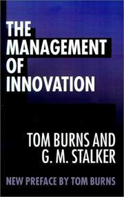 The management of innovation by Burns, Tom