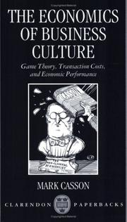Cover of: The Economics of Business Culture | Mark Casson