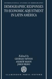 Cover of: Demographic responses to economic adjustment in Latin America |