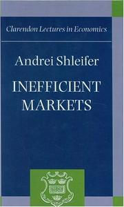 Cover of: Inefficient Markets