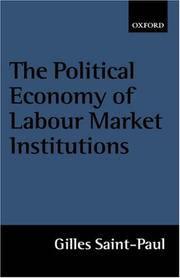 Cover of: The political economy of labour market institutions
