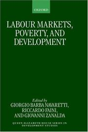 Cover of: Labour markets, poverty, and development