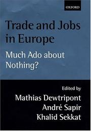 Cover of: Trade and jobs in Europe |
