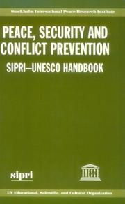 Cover of: Peace, security, and conflict prevention