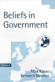 Cover of: Beliefs in Government (Beliefs in Government , Vol 5) |