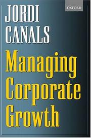 Cover of: Managing Corporate Growth